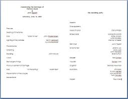 Free Microsoft Word Wedding Program Template Wedding Program Template Word Cyberuse