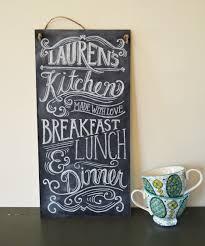 Chalkboard For Kitchen Custom Chalkboard Kitchen Chalkboard Sign Typography Art