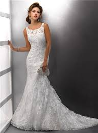 mermaid straps lace wedding dress with sequins buttons