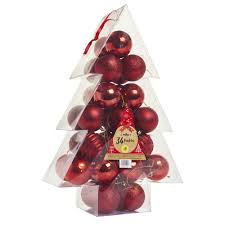 Wilko Nordic Country Christmas Baubles 34pk