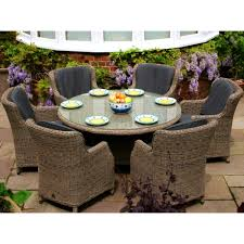 Melbourne Outdoor Patio Furniture Round Dining Table And Chairs
