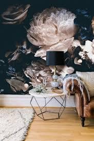 Zelfklevend Behang Bloemen Zwart Vintage 210x215 Tapetshow