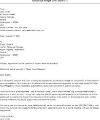 Resume Software Quality Assurance Analyst Cover Letter Best