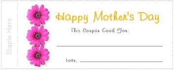 Make Coupons How To Make Mothers Day Printable Coupons