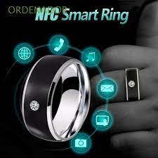 ORDENADOR Fashion Wearable Connect Multifunctional Smart NFC Finger Ring  NEW Waterproof Technology Android Phone Equipment Intelligent/Multicolor