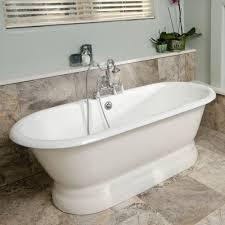 randolph morris  inch cast iron double ended pedestal tub rim
