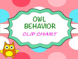 Owl Behavior Clip Chart Bilingual Owl Behavior Clip Chart Freebie