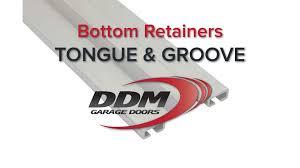 ddm garage doorsGarage Door Bottom Seal Retainers Tongue and Groove  YouTube