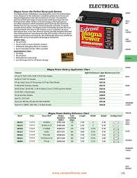 Magna Power Battery Chart Custom Chrome 2015 Icatalog Pages 5 54 And 5 55