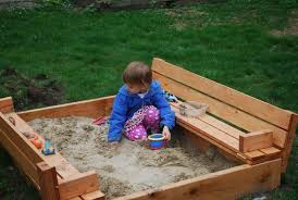 sandbox with benches