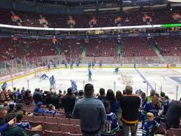 Vancouver Canucks Seating Chart View Rogers Arena Section 118 Home Of Vancouver Canucks