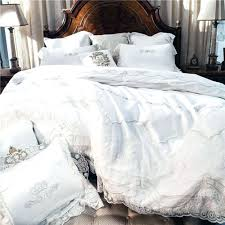 image from luxury duvet white embroidery cotton bedding sets luxury duvet cover set princess lace edge queen king size wedding bedclothes bed linen