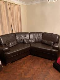 4 seater curved leather sofa and 2 seater recliner leather sofa