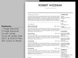 Resume Reference Page Simple Teacher Resume Template With Cover Letter And Reference Page