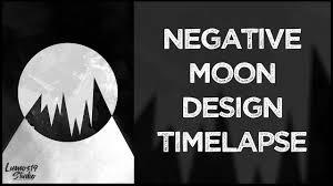 Graphic Design Timelapse Negative Moon Graphic Design Speed Art Timelapse