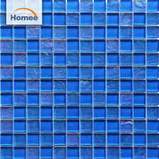 china malaysia mix blue color swimming pool crystal glass mosaic china building material decoration material