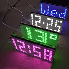 geekcreit diy ds3231 touch key control brightness adjule big size dot matrix alarm clock kit