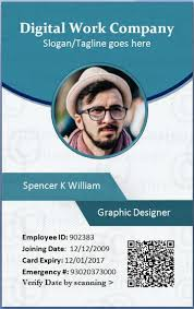 Employees Template In Card Id Format Employee Template Word Card