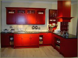 red kitchen cabinets with yellow walls black glaze what color