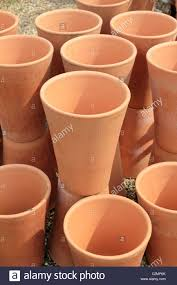 tall terracotta planter. Plain Planter Tall Terracotta Flower Pots Stacked Together Sussex England UK  Stock  Image To Terracotta Planter