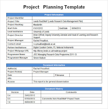 Sample Project Plan Outline Project Management Plan Template Template Business