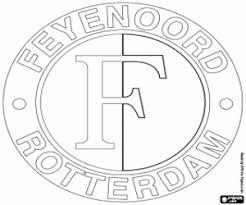 Kleurplaat Logo Van Feyenoord Kleurplaten