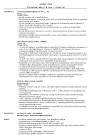 Senior Operations Analyst Resume Samples Velvet Jobs