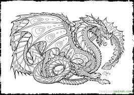 Small Picture Realistic Dragon Coloring Pages For Adults AZ Coloring Pages