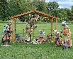 wooden nativity scene outdoor designs