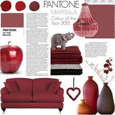 Small Picture Pantone Colour of the Year 2015 Marsala Home Decor Polyvore