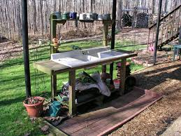 vases how to make an outdoor sink a potting bench with old doors benchi 17d the