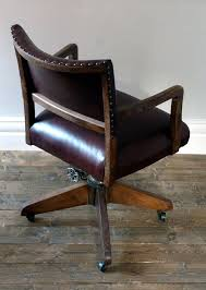 leather antique wood office chair leather antique. Antique Office Chairs Throughout With Regard To Vintage Architecture 18 Leather Wood Chair