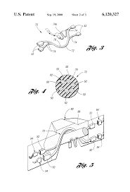 patent us6120327 foam wire harness shape memory google patent drawing