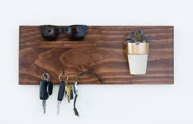 make a hanging wooden key holder
