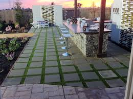 Patio stones with grass in between Grow Yard Crashers Artificial Grass Patio Stone Project Mycoffeepotorg Patio Stones And Artificial Grass Artificial Grass Installer