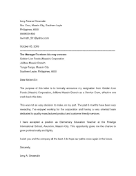 Announcement Of Employee Resignation Template Resignation Letter ...