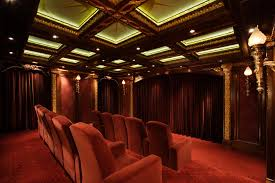 home theater ceiling lighting. Interesting Theater Coffered Ceiling Lighting Ideas Home Theater Traditional With Velvet  Armchair Ceil And Home Theater Ceiling Lighting