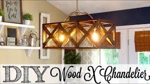 wood chandelier lighting. DIY Wooden X Chandelier | The Look For Less Collab Wood Lighting