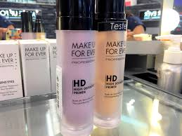 makeup forever hd primer yellow pink