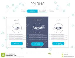 Web Design Package Pricing Three Banners Pricelist Hosting Plans And Web Design Boxes