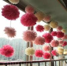 Tissue Paper Pom Poms Flower Balls