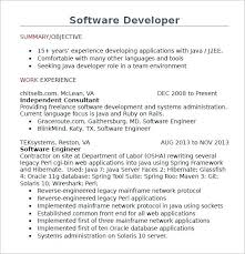 java developer resume sample resume java developer resume australia