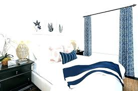 Navy Blue Curtains For Bedroom And White Beach Drapes Horizontal ...