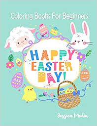 Happy Easter Day Easter Coloring Book With Fun Easy And Relaxing