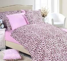 romantic pink leopard print cotton minimalist fitted 7 piece bedding sets beddinginn com