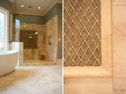 design lines blog master bathroom tub and shower tile detail glass tile  stone