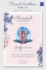 Memorial Card Template Funeral Announcement Cards Rome Fontanacountryinn Com