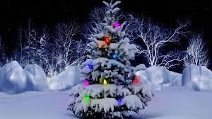 Christmas Lights Snow Desktop ...