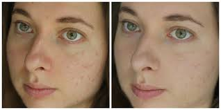 make up for ever water blend foundation before after