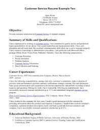 Customer Service Resumes Examples Free Resume Example And